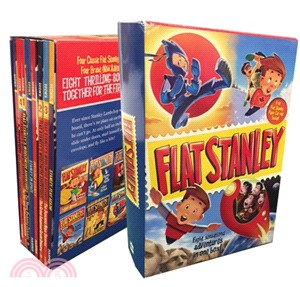 Flat Stanley 8 book paperback box set with paper doll