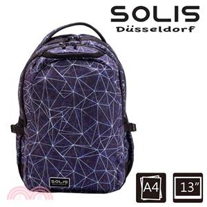 【SOLIS】光速星球 Ultra+ 小尺寸基本款電腦後背包-水色星球