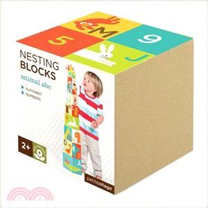 【美國Petit-Collage】疊疊樂方塊盒-可愛動物