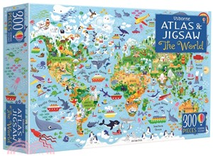 The World (Usborne Atlas and Jigsaw)