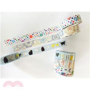 【mt】Masking Tape-台灣限定款A (毛絨動物/刺繡/漸變圓點)