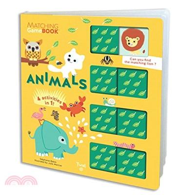 Matching Game Book: Animals (硬頁書)