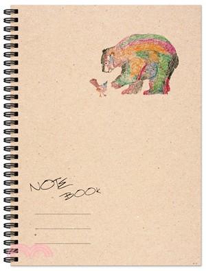 熊與鳥大筆記本(方格紙)