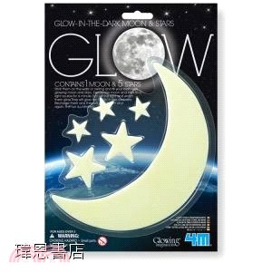 【4M】Glow Moon (small) & Stars 螢光月亮 & 星星 貼片