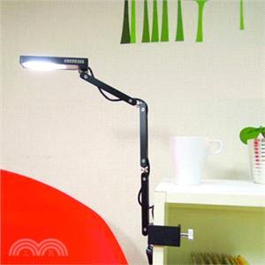 小折三臂LED防眩護眼夾燈 優雅黑(冷白光)