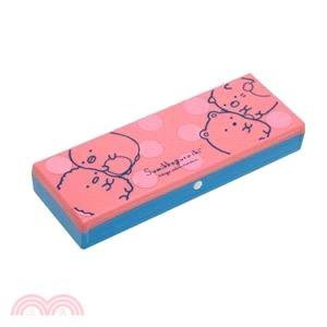 角落生物筆盒-粉藍