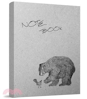 熊與鳥筆記本(黑白版)