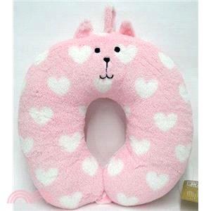愛心小兔頸枕