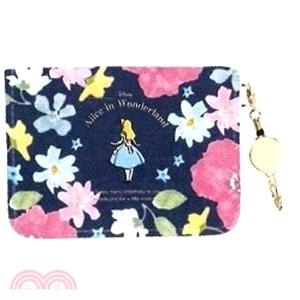 Disney 愛麗絲花園秘境 票卡夾-藍